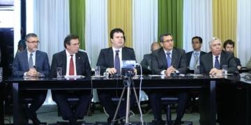 Coletiva de imprensa sobre a Democratização da ELETROBRÁS.