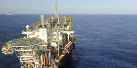 O FPSO Cidade de Itaguaí produziu 143,5 mil barris por dia de petróleo e 7,1 milhões de m3/dia de gás natural no campo de Lula, na Bacia de Santos Foto: Stéferson Faria/Petrobras