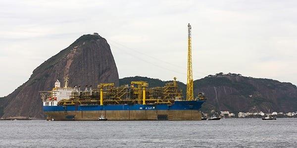 O FPSO Cidade de Maricá produziu em agosto 149,9 mil barris por dia de petróleo e 5,3 milhões de m3/dia de gás natural no campo de Lula, no pré-sal da Bacia de Santos