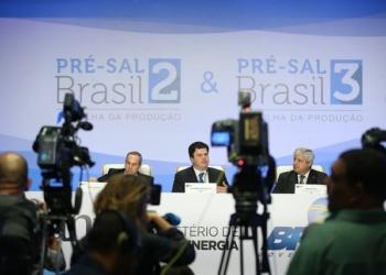 Coletiva de imprensa após 2ª e 3ª Rodadas de Licitação dos leilões do pré-sal. Foto: Saulo Cruz/MME