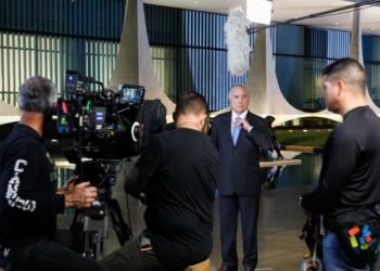 Gravação do pronunciamento de final de ano do Excelentíssimo Presidente da República Michel Temer. (Brasília - DF, 21/12/2017)  Foto: Beto Barata/PR