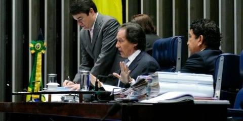 O presidente do Senado, Eunício Oliveira