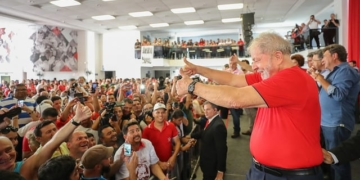 Lula no Sindicato dos Metalúrgicos do ABC. Foto: Ricardo Stuckert