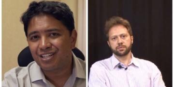 Danilo Silva (esq.) e Christian Queipo disputam vaga no CA da Petrobras