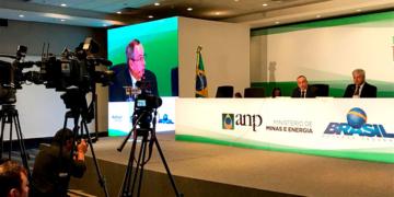 Coletiva de imprensa após a 15a rodada da ANP - Foto: Marcus Almeida/ANP