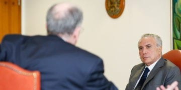 Presidente da República, Michel Temer, durante encontro com Pedro Parente, Presidente da Petrobras. Foto: Alan Santos/PR