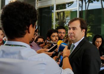 Presidente da República em exercício, Rodrigo Maia durante visita a Presidente do Supremo Tribunal Federal, Ministra Cármen Lúcia. Foto: Marcos Corrêa/PR