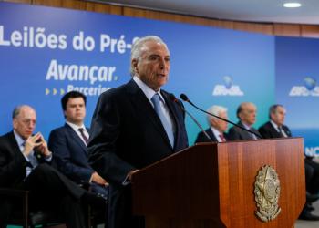 (Brasília - DF, 31/01/2018) - Cerimônia de Contratação de Novas Áreas no Pré-Sal  Foto: Beto Barata/PR