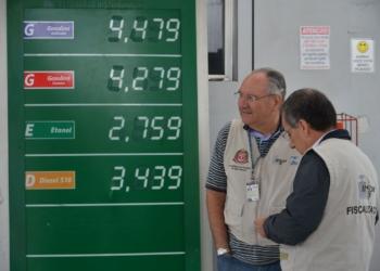 Operação conjunta do Procon, do Ipem e da ANP, para fiscalizar possíveis práticas abusivas, falta de informação, preços, volumetria (quantidade de combustível correta) e qualidade do álcool e gasolina vendidos nos postos de São Paulo.