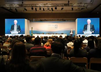 Moreira Franco, ministro de Minas e Energia, participa do Leilão de Pré Sal 4. Foto: Beth Santos/MME