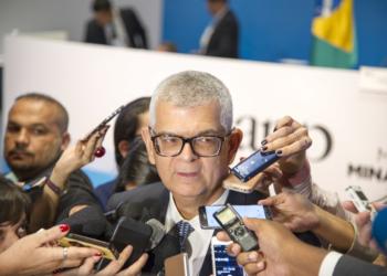 O presidente da Petrobras, Ivan Monteiro, durante leilão do pré-sal. Foto: Andre Ribeiro / Banco de Imagens Petrobras