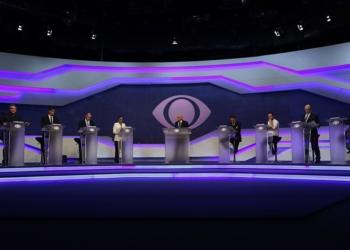 Candidatos realizaram na Band o primeiro debate na TV