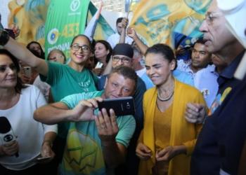 Marina Silva em ato de campanha nesta segunda-feira em Aracaju. Foto: Cortesia