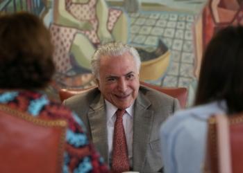 Michel Temer dá entrevista ao Jornal Estadão.  Foto: Marcos Corrêa/PR