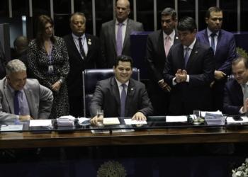 Davi Alcolumbre, presidente do Senado, leu pedido de instalação de CPI de brumadinho nessa terça / Foto: Fabio Rodrigues Pozzebom (Agência Brasil)