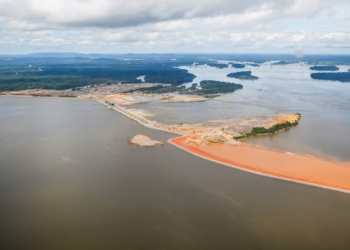 Vitória do Xingu (PA) - Foto aérea da Usina Hidrelétrica de Belo Monte - Sítio Pimental (Dilma Rousseff/PR)
