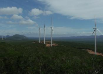 Usina Eólica de Seabra, na Bahia. Foto: Divulgação / janeiro 2012