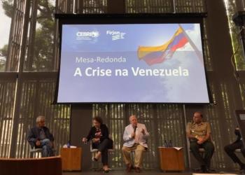 general Dutra de Menezes participou de mesa-redonda no Rio sobre a crise na Venezuela / Foto: Cebri divulgação