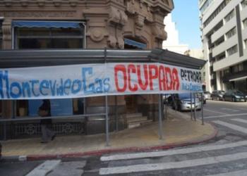 Ocupação na MontevídeoGas. Foto: Sindicato del Gas