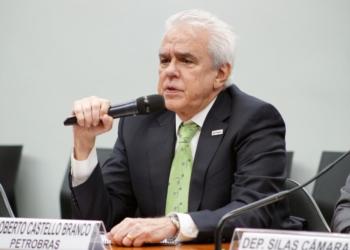 O presidente da Petrobras, Roberto Castello Branco, em audiência na Câmara / Foto: Agência Câmara