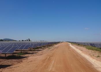 A usina solar de Mocuba / foto: divulgação Scatec Solar