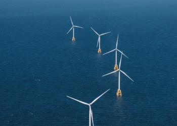 Fazenda Eólica offshore  Block Island, operado pela Orsted nos EUA. Foto: Cortesia