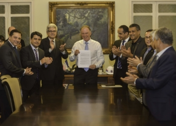 Cerimônia de posse do primeiro presidente da ES Gás. Foto: Hélio Filho/Secom