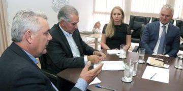 Reunião do governo Reinaldo Azambuja com representantes da Acron. Foto: Edemir Rodrigues