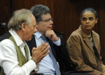 Ex-ministros do Meio Ambiente, Carlos Minc, Sarney Filho e Marina Silva / Foto: agência Brasil