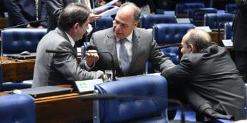 Plenário do Senado Federal durante sessão deliberativa ordinária. rrBancada:rsenador Cid Gomes (PDT-CE); senador Marcelo Castro (MDB-PI); rsenador Fernando Bezerra Coelho (MDB-PE).rrFoto: Roque de Sá/Agência Senado