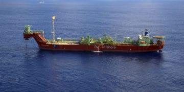O FPSO CIdade de São Vicente, afretado com a BW Offshore, será responsável pelo TLD que a Petrobras fará em águas ultraprofundas de Sergipe. Foto: Agência Petrobras