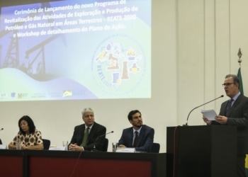 O ministério de Minas e Energia, lança, com a presença do ministro Bento Albuquerque, o REATE 2020, Programa de Revitalização da Atividade de Exploração e Produção de Petróleo e Gás Natural em Áreas Terrestres.