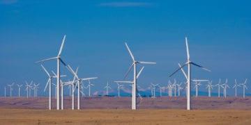 Cedar Creek Wind Farm Phase II under construction  in Colorado, US.