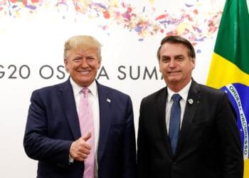 (Osaka - Japão, 28/06/2019) Presidente da República, Jair Bolsonaro, durante Reunião bilateral com o senhor Donald J. Trump, Presidente dos Estados Unidos da América.rFoto: Alan Santos / PR