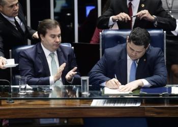 Os presidentes da Câmara, Rodrigo Maia, e do Senado, Davi Alcolumbre /  Foto: Pedro França/Agência Senado