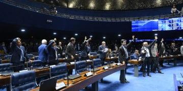 Plenário do Senado Federal durante sessão deliberativa ordinária. Ordem do dia. rrParticipam: rsenador Alessandro Vieira (Cidadania-SE); rsenador Cid Gomes (PDT-CE); rsenador Eduardo Girão (Podemos-CE); rsenador Humberto Costa (PT-PE); rsenador Jean Paul Prates (PT-RN); rsenador José Serra (PSDB-SP); rsenador Otto Alencar (PSD-BA); rsenador Paulo Rocha (PT-PA); rsenador Randolfe Rodrigues (Rede-AP); rsenador Reguffe (Podemos-DF).rrFoto: Roque de Sá/Agência Senado