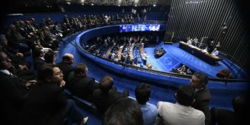 Plenário do Senado Federal durante sessão deliberativa ordinária. Ordem do dia.rrMesa:rpresidente do Senado, senador Davi Alcolumbre (DEM-AP).rrFoto: Marcos Oliveira/Agência Senado