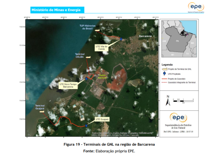 Terminais de GNL na região de Barcarena