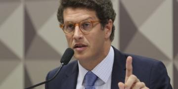 O ministro do Meio Ambiente, Ricardo Salles, participa de  audiência pública no senado, sobre a gestão do  Fundo Amazônia.