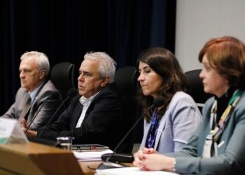 A diretoria executiva da Petrobras detalha os resultados operacionais e financeiros do segundo trimestre de 2019, no edifício-sede. Foto: Fernando Frazão/Agência Brasil
