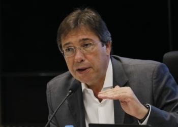 O presidente da Eletrobras, Wilson Ferreira Junior, apresenta os resultados do segundo trimestre e o andamento do Plano Diretor de Negócios e Gestão 2019-2023 da empresa, durante coletiva à impresa