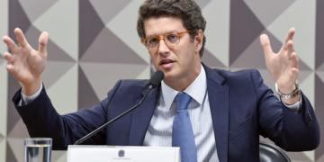 Ricardo Salles fala sobre alterações na gestão do Fundo Amazônia no Senado / Foto: Jefferson Rudy/Agência Senado