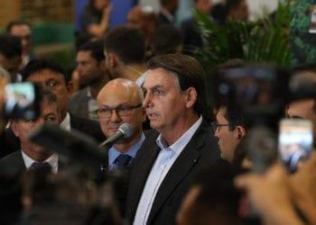 (Manaus - AM, 27/11/2019) Presidente da República Jair Bolsonaro conversa com a imprensa.rFoto: Marcos Corrêa/PR