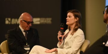 Martha Seillier durante evento no Rio de Janeiro / Foto: divulgação CEBRI