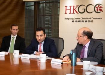 Peyman em reunião na Hong Kong General Chamber of Commerce / Foto: divulgação