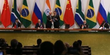 O presidente da republica, Jair Bolsonaro, Diálogo dos Líderes com o Conselho Empresarial do BRICS
