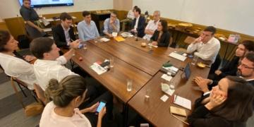 Reunião entre representantes do Ministério da Economia, Banco Mundial e Cebds. Foto: Cortesia Cebds