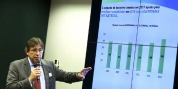 O presidente da Eletrobras, Wilson Ferreira Junior, durante audiência pública na Comissão de Minas e Energia da Câmara dos Deputados.