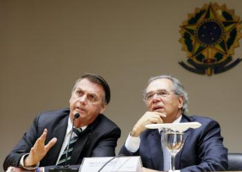 (Brasília-DF,  06/05/2019) Presidente da República, Jair Bolsonaro durante reunião com o Ministro da Economia, Paulo Guedes. Foto: Isac Nóbrega/PR