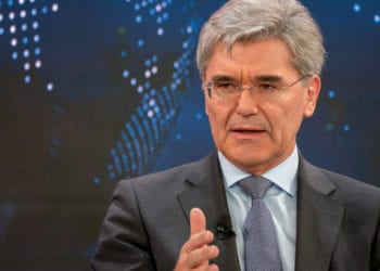 Joe Kaeser, President and Chief Executive Officer, Siemens, Germanyrspeaking in the The Global Energy Challenge session at the World Economic Forum Annual Meeting 2020 in Davos-Klosters, Switzerland, 23 January. Congress Centre, Sanada Copyright by World Economic Forum/Walter Duerst